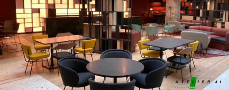 Lobby de l'hôtel Hilton agencé par Atelier 41